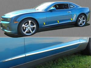 "Chrome Trim - More Trim Options - QAA - Chevrolet Camaro 2010-2015, 2-door, Coupe, Convertible (6 piece Stainless Steel Body Side Molding Accent Trim 0.75"" Width ) AT50100 QAA"