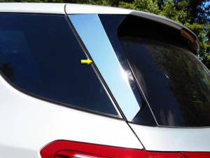 Chrome Trim - More Trim Options - QAA - Chevrolet Equinox 2018-2020, 4-door, SUV (2 piece Stainless Steel Rear Window Trim ) RW58160 QAA