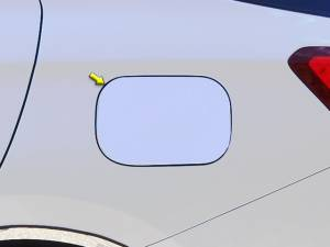 Chrome Trim - Fuel Door/Trim - QAA - Chevrolet Equinox 2018-2020, 4-door, SUV (1 piece Stainless Steel Gas Door Cover Trim Warning: This is NOT a replacement cap. You MUST have existing gas door to install this piece ) GC58160 QAA