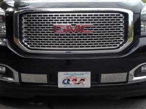 Chrome Trim - Bumper Accents - QAA - GMC Yukon 2015-2020, 4-door, SUV (2 piece Stainless Steel Front Bumper Trim ) FB55297 QAA