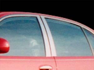 QAA - Buick Park Avenue 1997-2005, 4-door, Sedan (6 piece Stainless Steel Pillar Post Trim ) PP37581 QAA