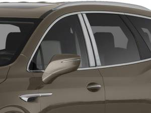 QAA - Buick Enclave 2018-2020, 4-door, SUV (4 piece Stainless Steel Pillar Post Trim ) PP58530 QAA