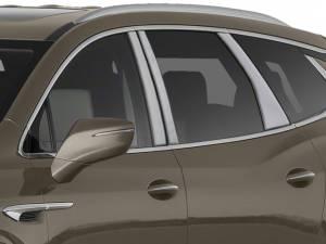 QAA - Buick Enclave 2018-2020, 4-door, SUV (6 piece Stainless Steel Pillar Post Trim ) PP58531 QAA