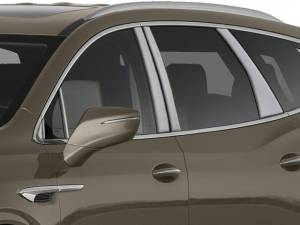 QAA - Buick Enclave 2018-2020, 4-door, SUV (12 piece Stainless Steel Pillar Post Trim Includes 3 front pieces per side. ) PP58532 QAA