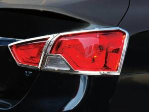 Chrome Trim - Tail Light Accents - QAA - Chevrolet Impala 2014-2020, 4-door, Sedan, Does NOT fit the Limited (4 piece Chrome Plated ABS plastic Tail Light Bezels ) TL54135 QAA
