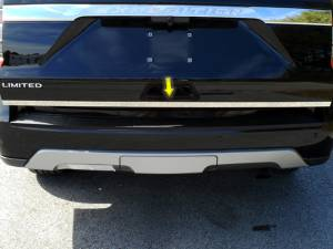 Chrome Trim - Trunk Lid Accents - QAA - Ford Expedition 2018-2020, 4-door, SUV (1 piece Stainless Steel Rear Deck Trim, Trunk Lid Accent ) RD58383 QAA