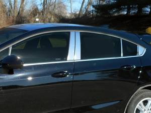 QAA - Chevrolet Cruze 2017-2019, 4-door, Hatchback (12 piece Stainless Steel Pillar Post Trim Includes one front and two Rear Pillar pieces and rear triangle ) PP57804 QAA