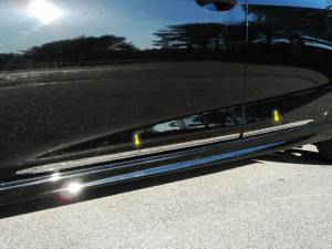 "Chrome Trim - More Trim Options - QAA - Chevrolet Cruze 2017-2019, 4-door, Hatchback (4 piece Stainless Steel Body Side Molding Accent Trim 1"" Width ) AT57800 QAA"