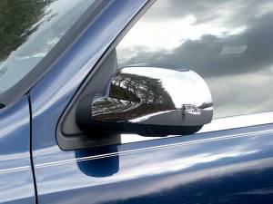 Chrome Trim - Mirror Covers/Accents - QAA - Chevrolet Trailblazer 2002-2008, 4-door, SUV (2 piece Chrome Plated ABS plastic Mirror Cover Set ) MC42293 QAA