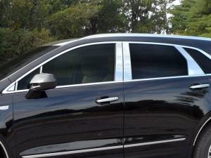 QAA - Cadillac XT5 2017-2020, 4-door, SUV (12 piece Stainless Steel Pillar Post Trim Includes two Front Pillars and one triangle piece, front of the mirror ) PP57263 QAA