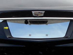 Chrome Trim - License Plate Accents - QAA - Cadillac XT5 2017-2020, 4-door, SUV (1 piece Stainless Steel License Plate Bezel ) LP57260 QAA