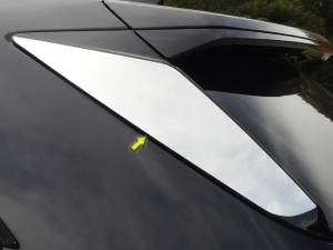 Chrome Trim - More Trim Options - QAA - Cadillac XT5 2017-2020, 4-door, SUV (2 piece Stainless Steel Sliding Rear Window Trim Accents ) RW57260 QAA
