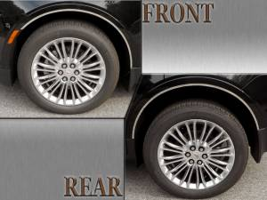 "Chrome Trim - Wheel Well/Fender Trim - QAA - Cadillac XT5 2017-2020, 4-door, SUV (4 piece Stainless Steel Wheel Well Accent Trim 0.5"" Width With 3M adhesive installation, No Gasket) WQ57260 QAA"