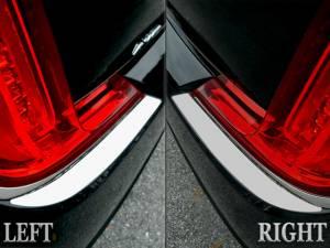 Chrome Trim - Bumper Accents - QAA - Cadillac XTS 2018-2019, 4-door, Sedan (2 piece Stainless Steel Bumper Cap Trim Accent On rear bumper ) BC58245 QAA