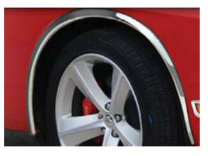 """Dodge Challenger 2009-2010, 2-door, Coupe (4 piece Molded Stainless Steel Wheel Well Fender Trim Molding 0.75"""" Width Clip on or screw in installation, Lock Tab and screws, hardware included.) WZ49915 QAA"""
