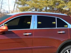 QAA - Cadillac XT4 2019-2020, 4-door, SUV (10 piece Stainless Steel Pillar Post Trim Includes small rear triangle ) PP59213 QAA