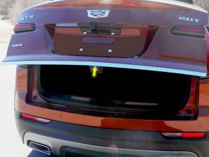 "Chrome Trim - Trunk Lid Accents - QAA - Cadillac XT4 2019-2020, 4-door, SUV (1 piece Stainless Steel Rear Deck Trim, Trunk Lid Accent 0.875"" Width ) RD59210 QAA"