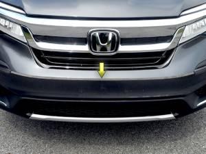 "Chrome Trim - Bumper Accents - QAA - Honda Pilot 2016-2020, 4-door, SUV (1 piece Stainless Steel Front Bumper Trim 0.5"" wide ) FB16260 QAA"