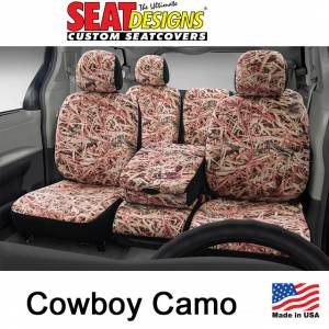 Seat Accessories - Seat Covers - DashDesigns - Cowboy Camo Seat Covers