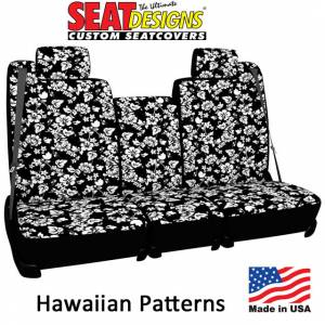 Seat Covers - Neoprene Seat Covers - DashDesigns - Hawaiian Pattern Seat Covers