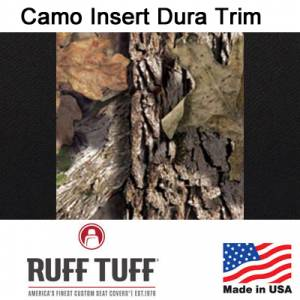 Seat Accessories - Seat Covers - RuffTuff - Camo Pattern Inserts With Dura EZ-Care Trim Seat Covers