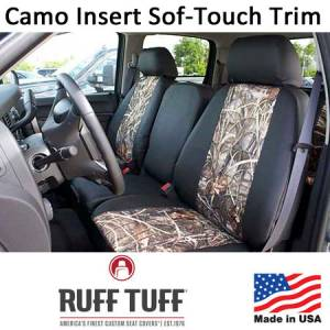 Seat Covers - Sof-Touch Seat Covers - RuffTuff - Camo Pattern Inserts With Sof-Touch Trim Seat Covers