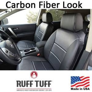 Seat Accessories - Seat Covers - RuffTuff - Carbon Fiber Look Seat Covers