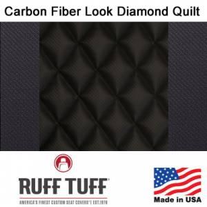 RuffTuff - Carbon Fiber Look Diamond Quilt Inserts With Carbon Fiber Trim Seat Covers - Image 2