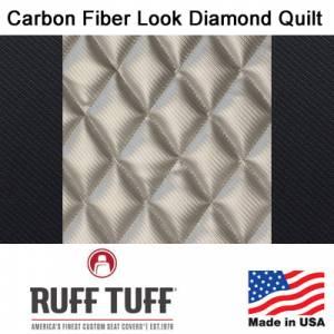 RuffTuff - Carbon Fiber Look Diamond Quilt Inserts With Carbon Fiber Trim Seat Covers - Image 3