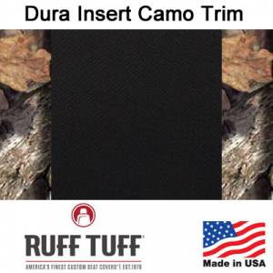 Seat Covers - Easy Care Seat Covers - RuffTuff - Dura EZ-Care Insert With Camo Pattern Trim Seat Covers