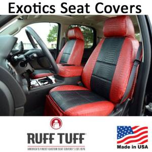 Seat Accessories - Seat Covers - RuffTuff - Exotics Simulated Animal Skin Seat Covers