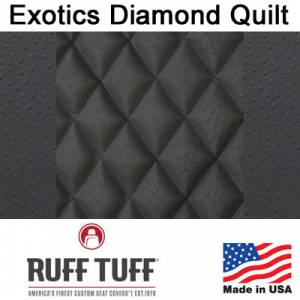 Seat Covers - Exotics Simulated Animal Seat Covers - RuffTuff - Exotics Diamond Quilt Insert With Exotics Trim Seat Covers