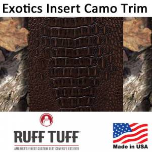 Seat Accessories - Seat Covers - RuffTuff - Exotic Insert With Camo Pattern Trim Seat Covers