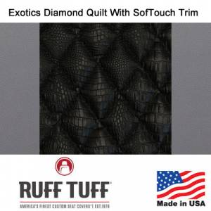 Seat Covers - Exotics Simulated Animal Seat Covers - RuffTuff - Exotics Diamond Quilt Insert With Sof-Touch Trim Seat Covers