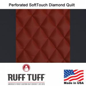 Seat Covers - Leatherette / Suede Seat Covers - RuffTuff - Perforated Sof-Touch Diamond Quilt Insert With Sof-Touch Trim Seat Covers