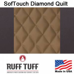 Seat Covers - Leatherette / Suede Seat Covers - RuffTuff - Sof-Touch Diamond Quilt Insert With Sof-Touch Trim Seat Covers