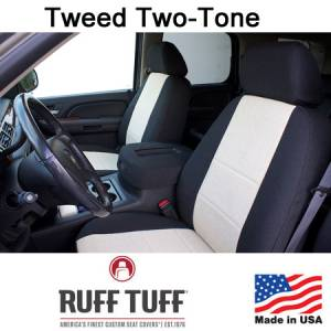 Seat Accessories - Seat Covers - RuffTuff - Tweed Seat Covers
