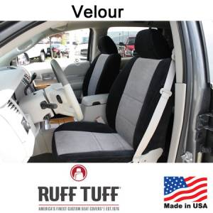 Seat Accessories - Seat Covers - RuffTuff - Velour Seat Covers