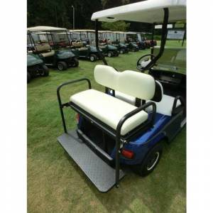 Golf Cart Parts & Accessories - Rear Flip Seats - GOLF CART REAR FLIP SEAT - EZGO / CLUB CAR DS / PRECEDENT / YAMAHA