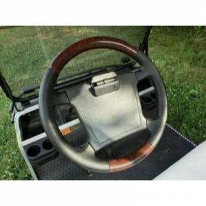 Golf Cart Parts & Accessories - Steering Wheels / Covers - Wood Steering Wheel Mahogany Trim