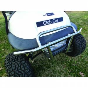 Golf Cart Parts & Accessories - Brush Guards & Bumpers - Club Car Precedent Stainless Brush Guard