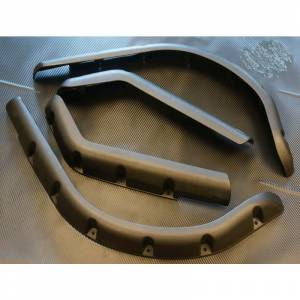 Golf Cart Parts & Accessories - Fender Flares - EZ-GO Fender Flare Set 4pcs with Mounting Hardware