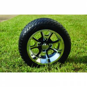 "Wheels/Tires - Wheel Covers - 12 inch Wheels - 12"" x 7.0"" PREDATOR Wheel and Tire Set LOW PROFILE"