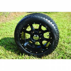 "Wheels/Tires - Wheel Covers - 12 inch Wheels - 12"" x 7.0"" NIGHT STALKER Wheel and Tire Set LOW PROFILE"