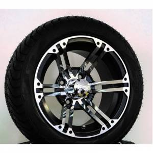 Wheels/Tires - Wheel Covers - 12 inch Wheels - 12 x 7.0 TERMINATOR Wheel and Tire Set LOW PROFILE