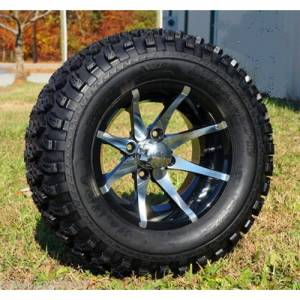 Wheels/Tires - Wheel Covers - 12 inch Wheels - 12 x 7.0 Kraken Wheel and Tire Set