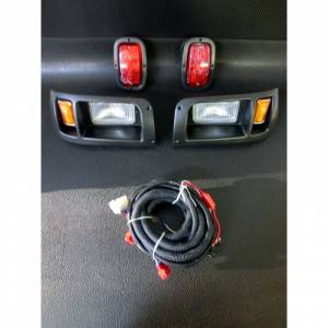 Golf Cart Parts & Accessories - Lighting & Light Kits - EZ-GO Light Kit Includes Headlights Taillights and Wiring Harness
