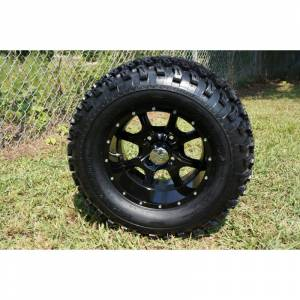 Wheels/Tires - Wheel Covers - 12 inch Wheels - 12 x 7.5 Black Knight Wheel and Tire Set
