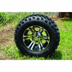 "Wheels/Tires - Wheel Covers - 12 inch Wheels - 12"" x 7.5"" Bulldog Wheel and Tire Set"