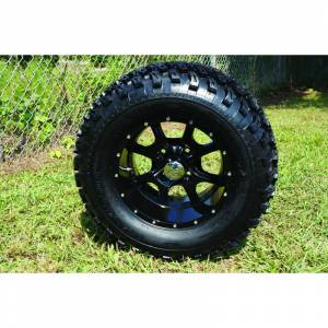 Wheels/Tires - Wheel Covers - 12 inch Wheels - 12 x 7.5 Night Stalker Wheel and Tire Set